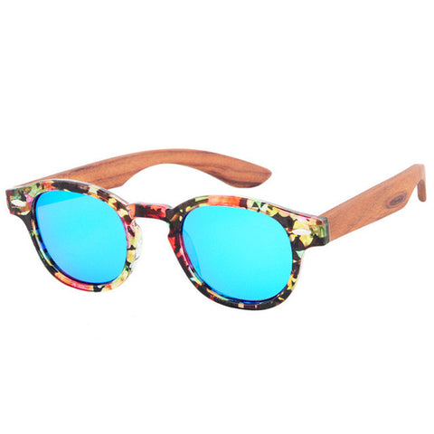 Handmade Round Bamboo Sunglasses  Polarized Wood Sunglasses with bamboo arms - GT Bamboo and More
