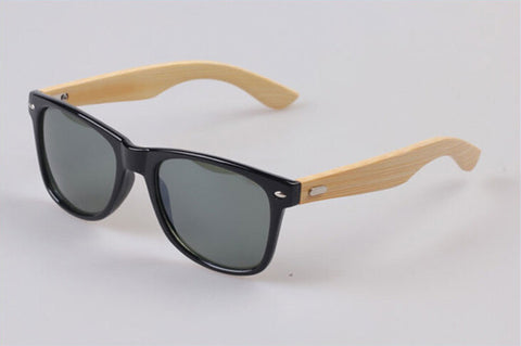 Bamboo Leg Sunglasses Men Wooden Sunglasses Black frame Women Designer Vintage - GT Bamboo and More