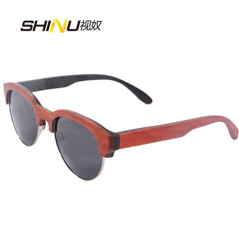Wooden Frame Silver ring wire 100% Genuine Hand Craft UV400 Protection Sunglasses - GT Bamboo and More