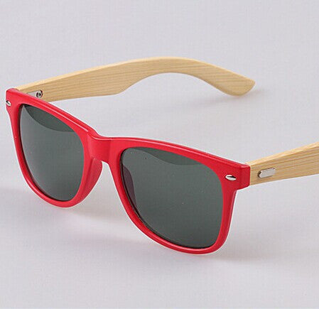 Bamboo leg Sunglasses Men Wooden Sunglasses Red frame Women Brand Designer Vintage Wood Sun Glasses - GT Bamboo and More