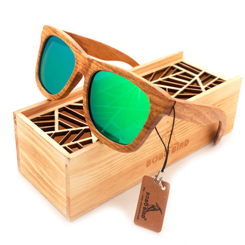 Men's Sunglasses Wood Sunglasses Luxury Brand Designer Mirror Polarized Lens Wood Sun Glasses - GT Bamboo and More