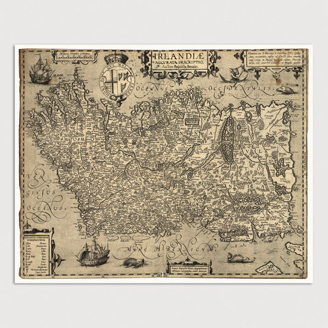 Ireland Antique Map Print (1606)