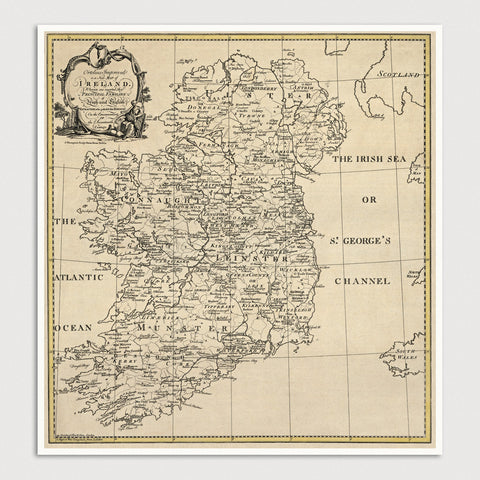Ireland Antique Map Print (c1795)