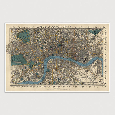 London Antique Map Print (1860)