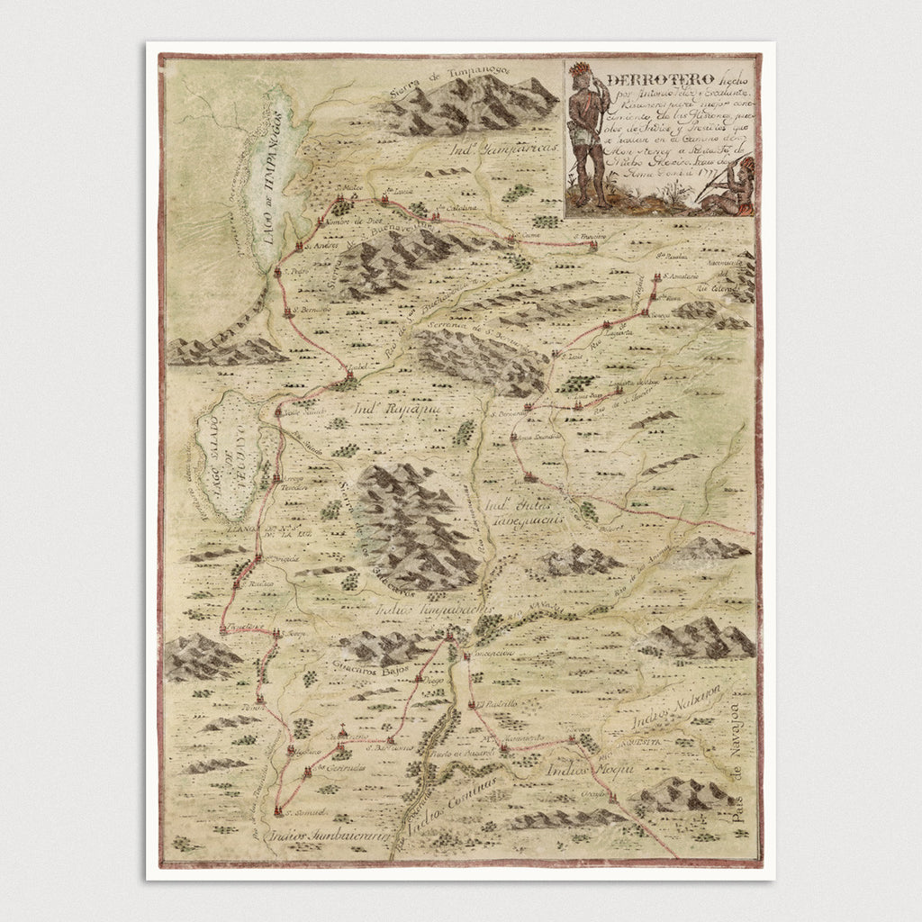 Utah Antique Map Print (1777)