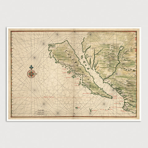California Antique Map Print (1650)