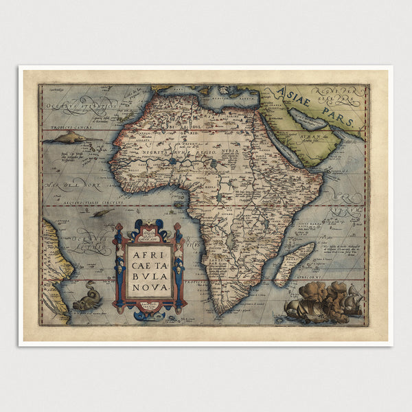 Africa Antique Map Print (1570)