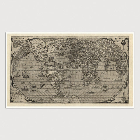 World Antique Map Print (1560)