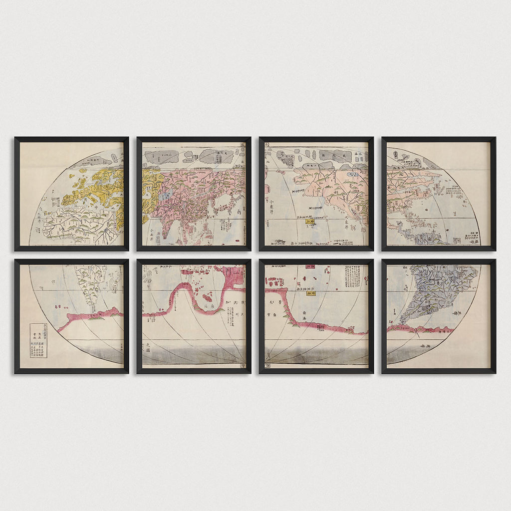 World Antique Map Print Set (c1785)