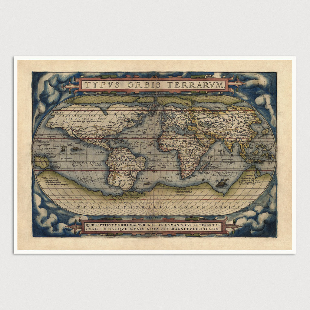 World Antique Map Print (1570)