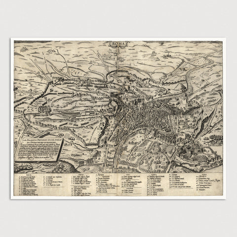 Rome Antique Map Print (1561)