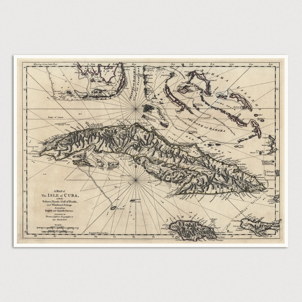Cuba Antique Map Print (1768)