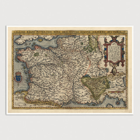 France Antique Map Print (1570)