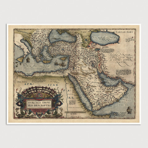 Middle East Antique Map Print (1570)