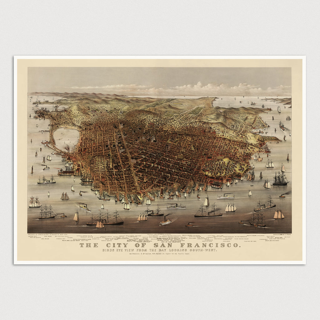 San Francisco Antique Map Print (c1878)