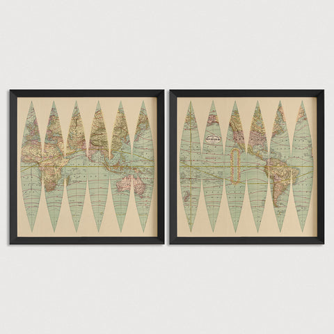 World Antique Map Print Set (1887)