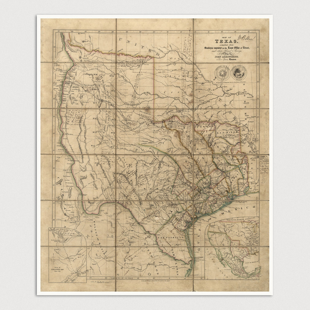 Texas Antique Map Print (1841)