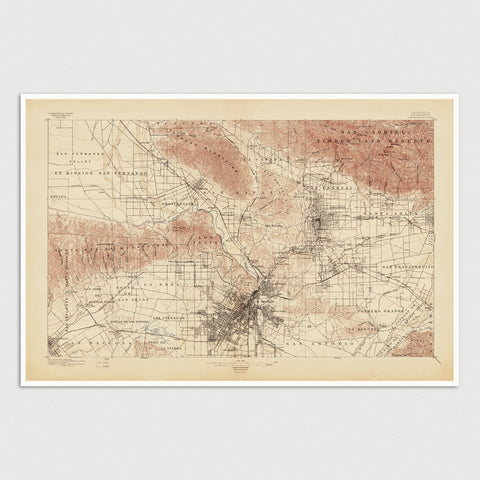 USGS Topographic Map of Los Angeles (1897)