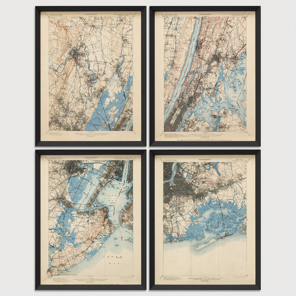USGS Topographic Maps of the New York City Area (1900)