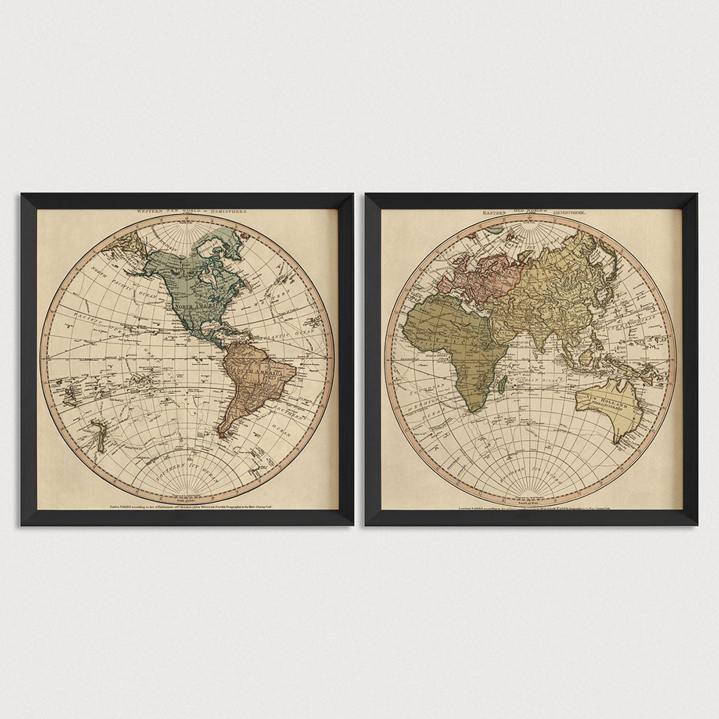 World Antique Map Print Set (1786)