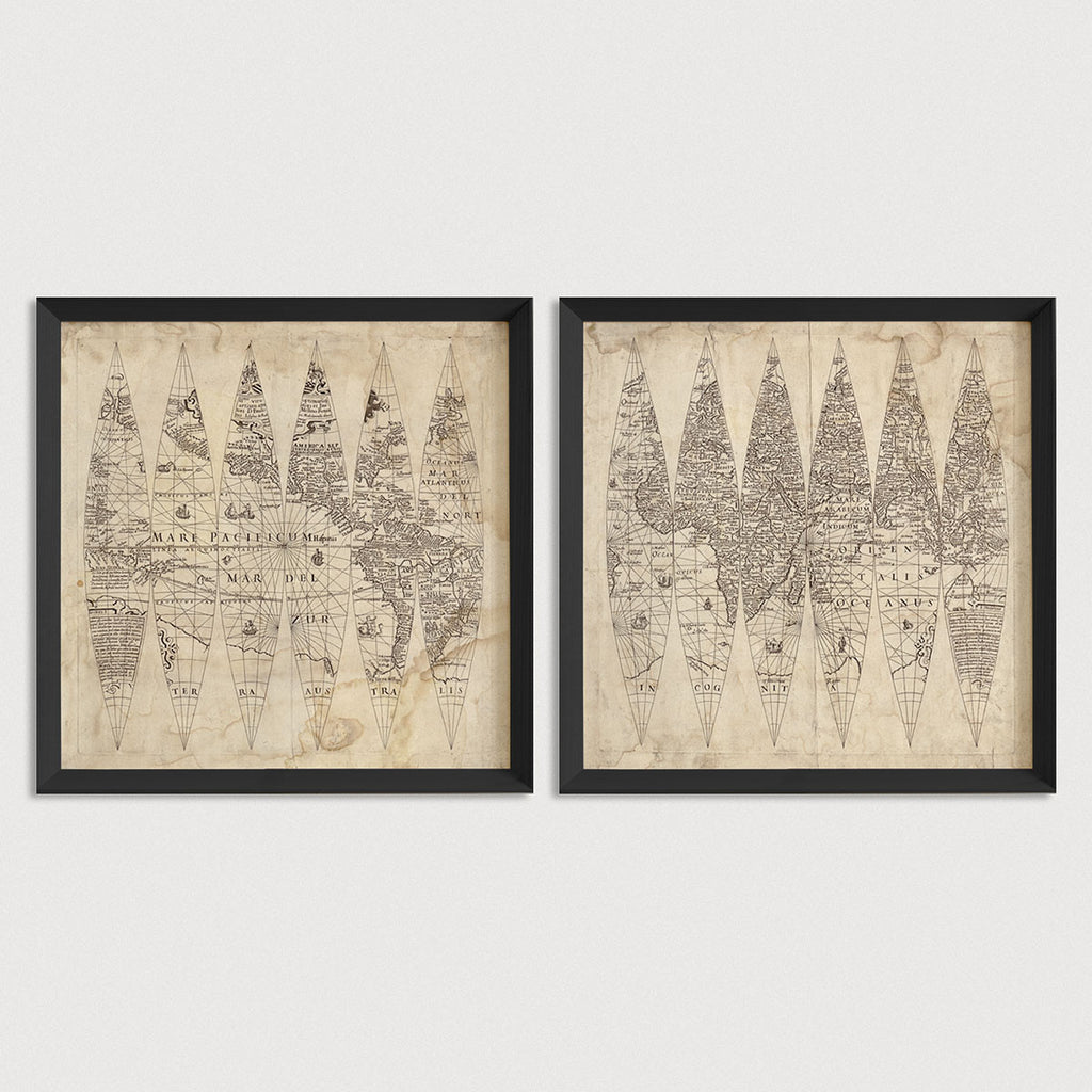World Antique Map Print Set (1615)