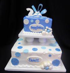 Bubbles in Buttercream Celebration Tier Cake
