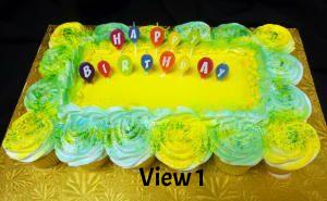 Cupcake Cake - Happy Birthday Candles