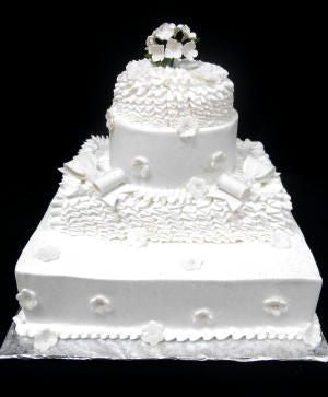 Romantic Ruffles Premier Wedding Cake