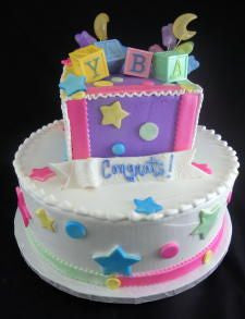 Baby Block Celebration Tier Cake