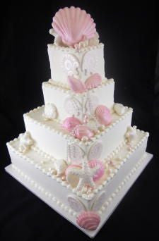 Pink Seashell Premier Wedding Cake