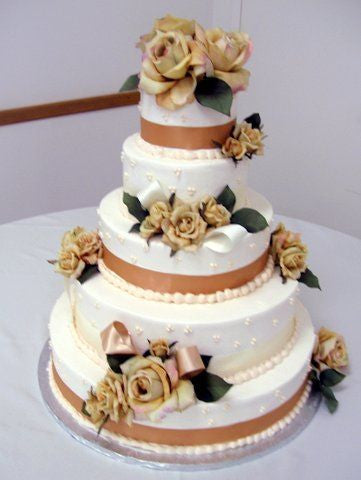 Classic Charm with Taupe Ribbon and Flowers