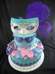 Aqua Mask Celebration Tier Cake