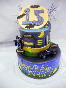 Batman for Darlin Celebration Tier Cake