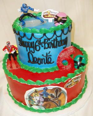 Power Rangers Celebration Tier Cake