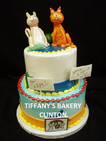Cats Celebration Tier Cake
