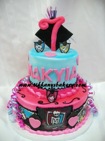 Monster High Celebration Tier Cake