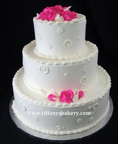 In the Pink Classic Wedding Cake