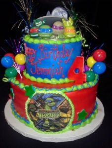 Ninja Turtle Celebration Tier Cake