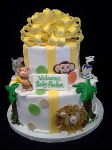 Jungle Safari Celebration Tier Cake