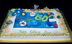 Swimming Pool on Full Sheet Cake