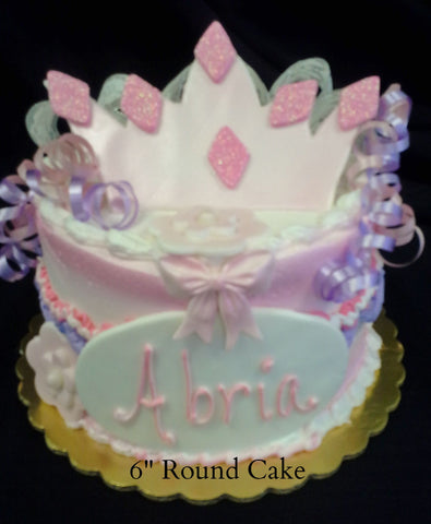 "Crown on 6"" Round Cake"
