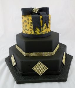 Cheetah Celebration Tier Cake