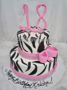 "Zebra ""18"" Celebration Tier Cake"