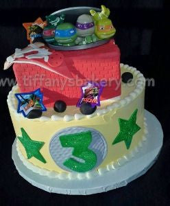 Teenage Mutant Ninja Turtles Celebration Tier Cake 2
