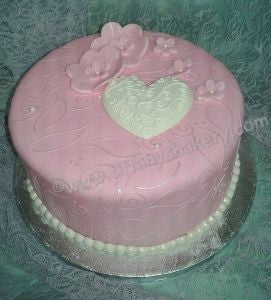 Fondant Covered Round Cake 8""