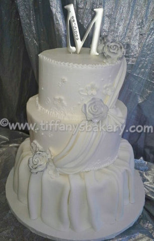 Sophisticated Flounce Premier Wedding Cake