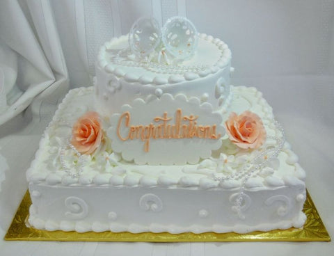 Courthouse Quickie Wedding Cake - 2 Days Notice Required