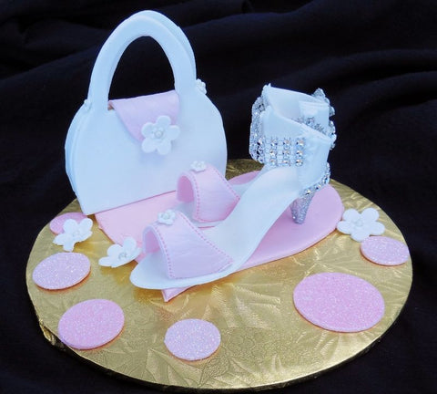 Mini Shoe and Purse Fondant Accent