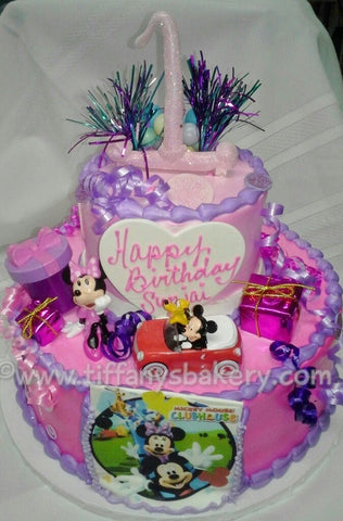 Mickey and Minnie Celebration Tier Cake