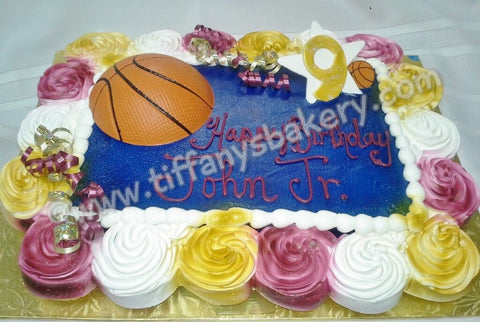 Basketball on 1/4 Sheet with Cupcakes